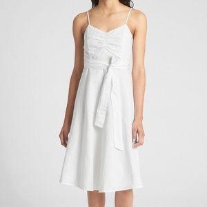 Gap spaghetti strap linen/cotton dress 8 tall NWT